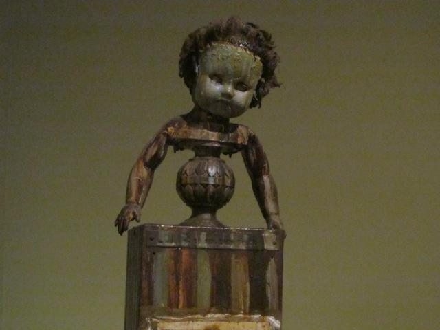 A Lady Named Zoa says 'Boo!' By Edward Kienholz on display at LACMA.