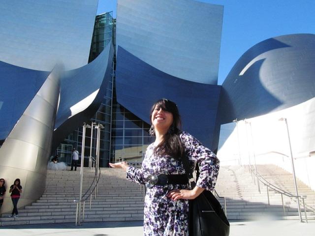 I spy a wedding dress at the Walt Disney Concert Hall!