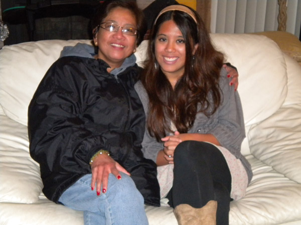 Mom and me at a Christmas party in 2010.