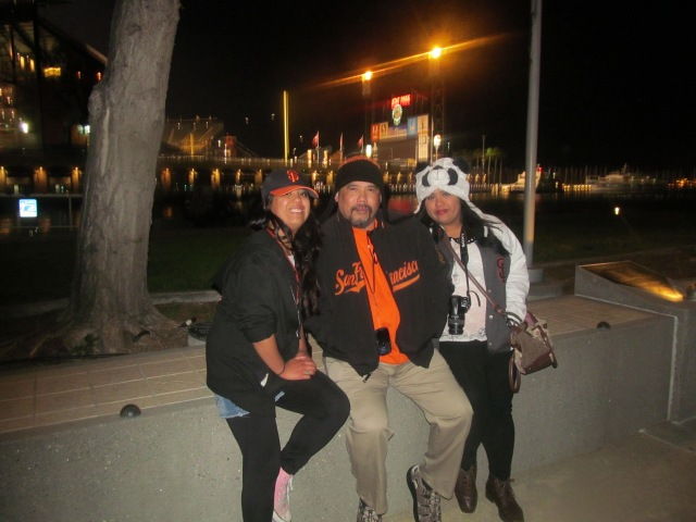 Me, my dad, and my sister at AT&T Park after a Giants game in May.