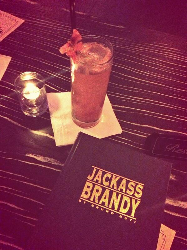 Getting intimate with Huckleberry Finn and a book entitled 'Jackass Brandy.'