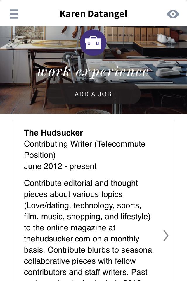 Levo Resume App Screenshot