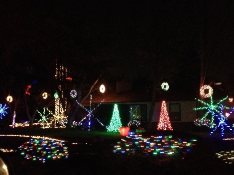 A house on Christmas Tree Lane in Fresno.