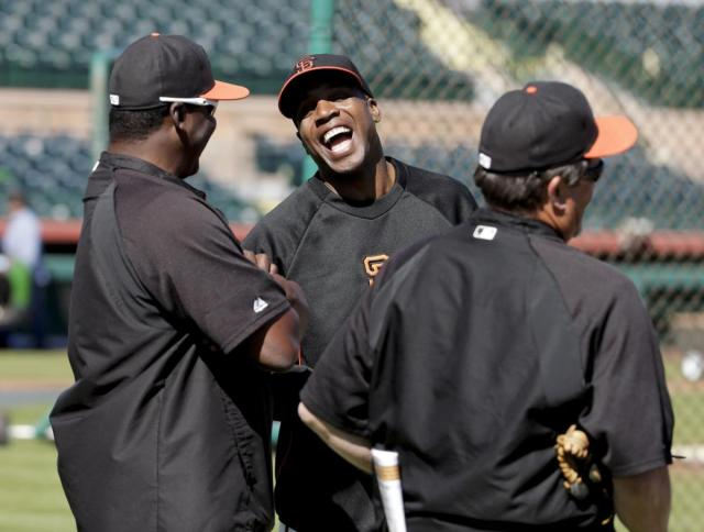 This quiz gets the Barry Bonds laugh of approval (But he is not one of the possible results). [photo credit: Chris Carlson/ AP]