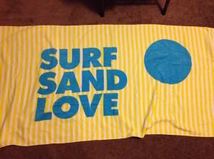 Surf Sand Love Beach Towel