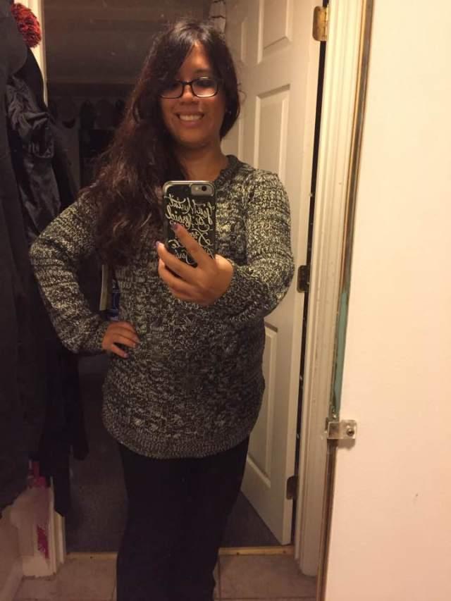 karen-wearing-sweater